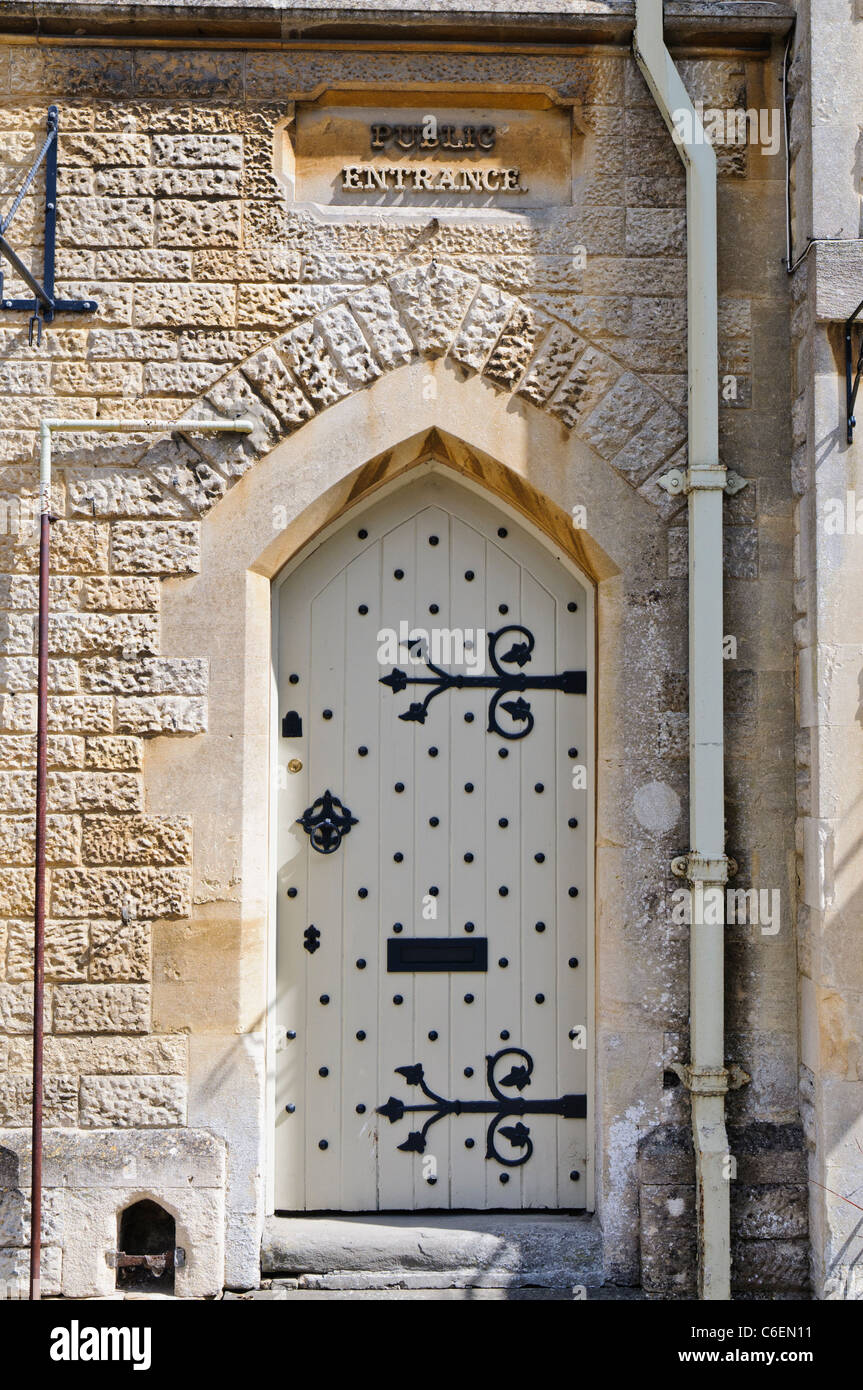 Public doorway at the old courthouse, Fairford, Gloucestershire - Stock Image