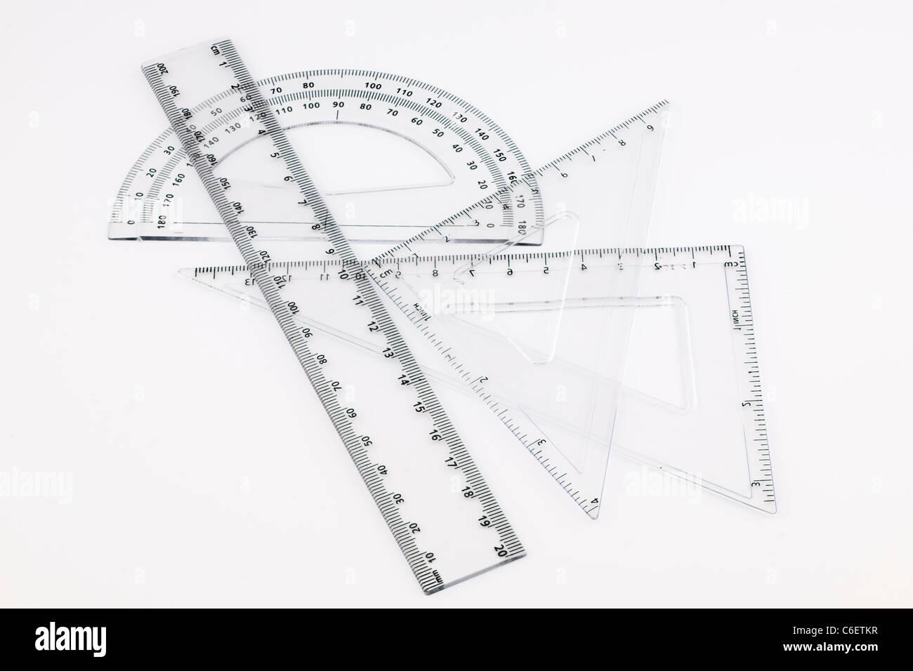Plastic geometry set - Stock Image