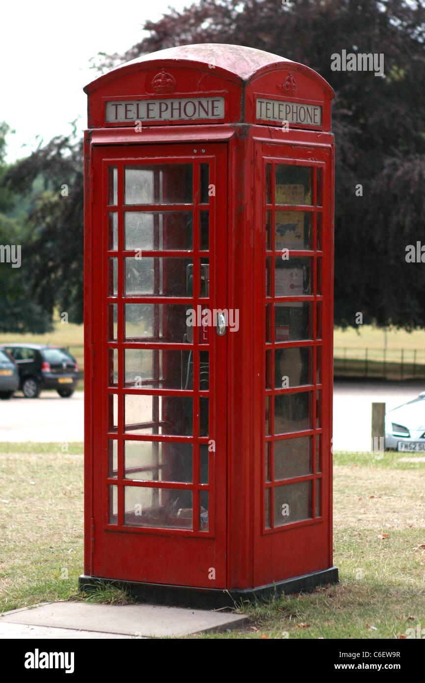 English Red Telephone Box - Stock Image