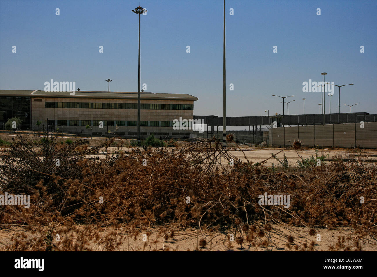 The terminals of the Erez crossing point between the Gaza strip and Southern Israel - Stock Image