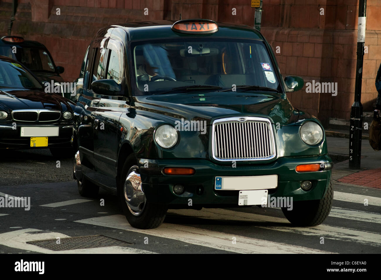 London city cab in motion - Stock Image