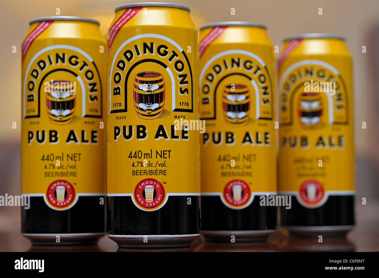 Cans of Ale, Boddingtons Pub Ale - Stock Image
