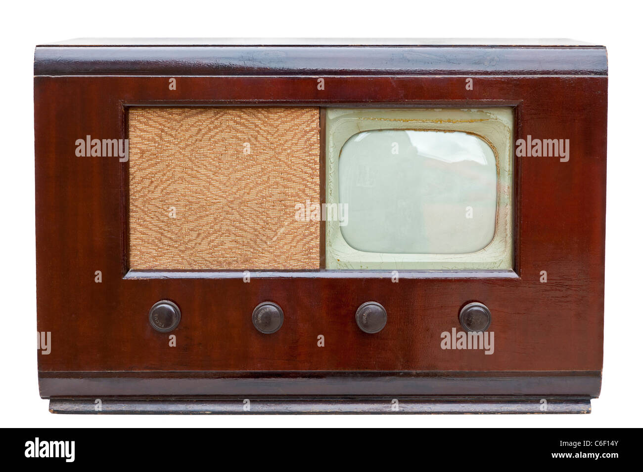 Vintage Philips model 383A television set from 1948 with 9 inch screen. JMH5163 - Stock Image