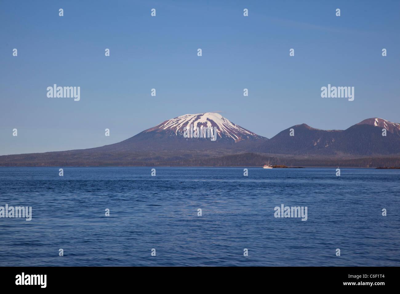 Mt. Edgecumbe, Sitka, Alaska - Stock Image