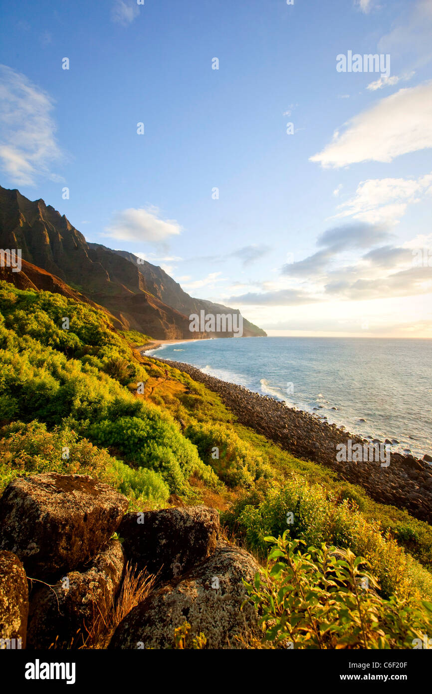 Kalalau Beach,Napali Coast, Kauai, Hawaii - Stock Image