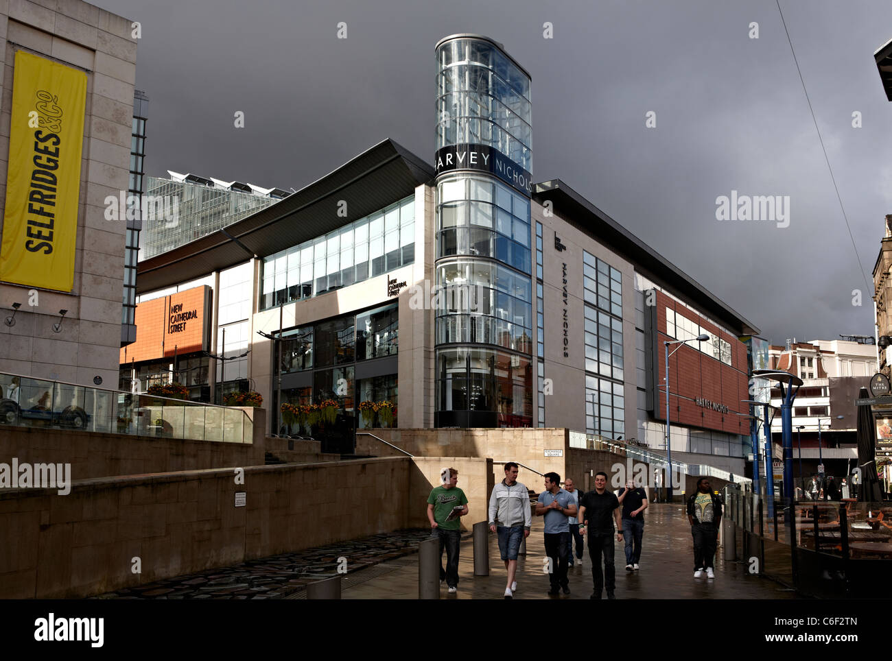 Harvey Nichols store New Cathedral Street Manchester - Stock Image