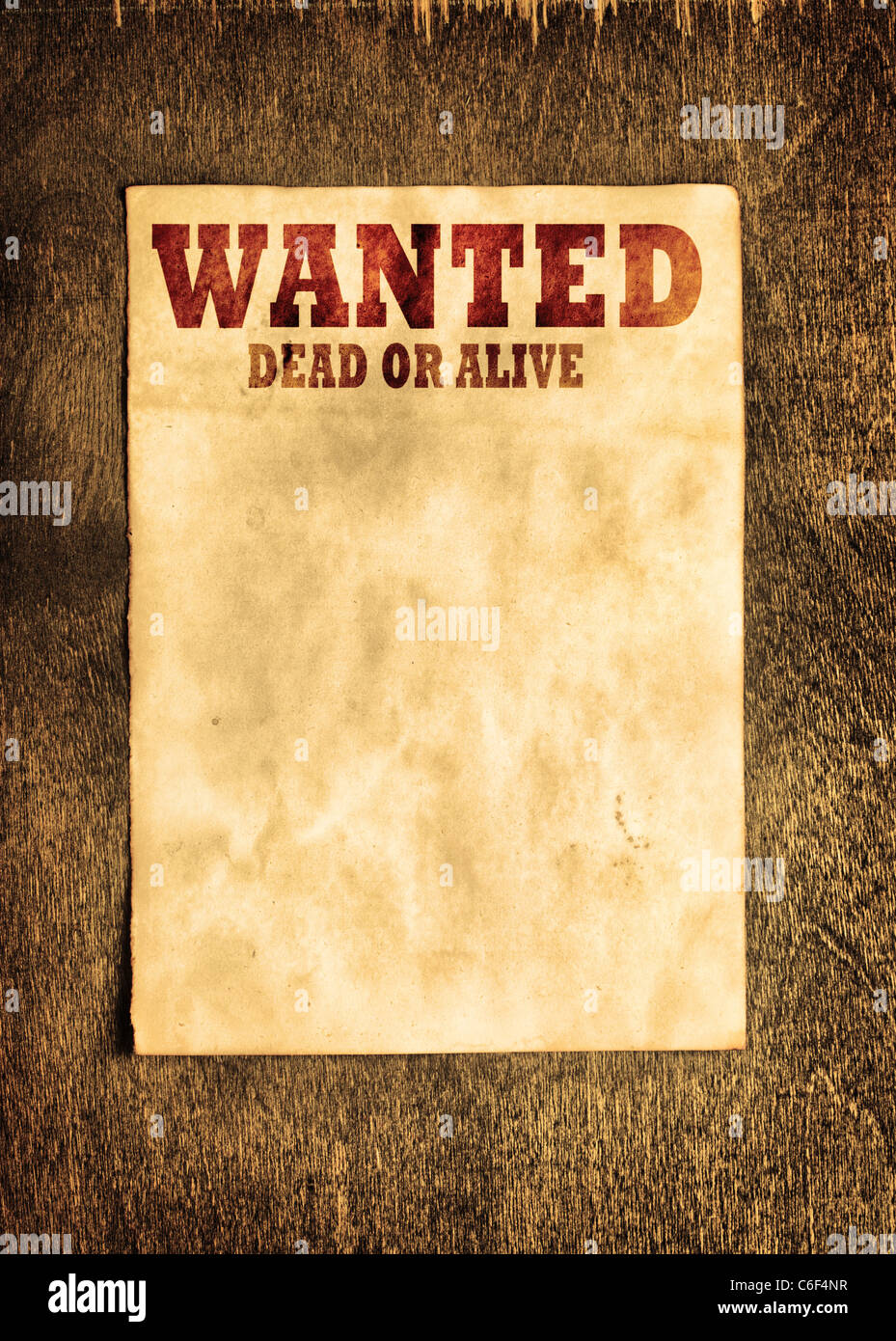 Wanted Poster Template Stock Photos Wanted Poster Template Stock
