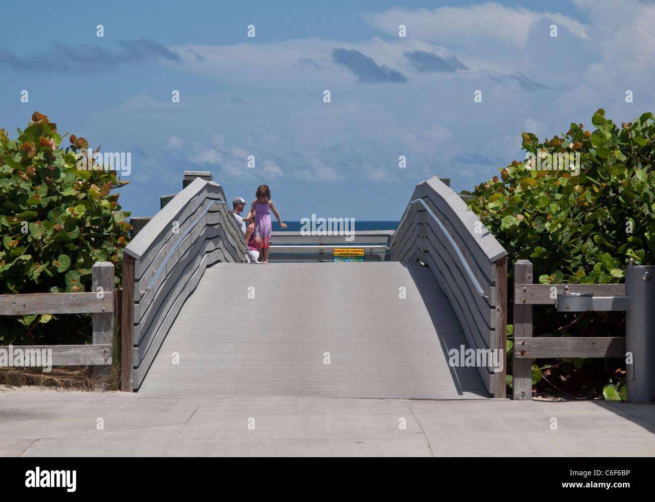 Ponce De Leon Landing Site At Melbourne Beach On The East Coast Of Florida