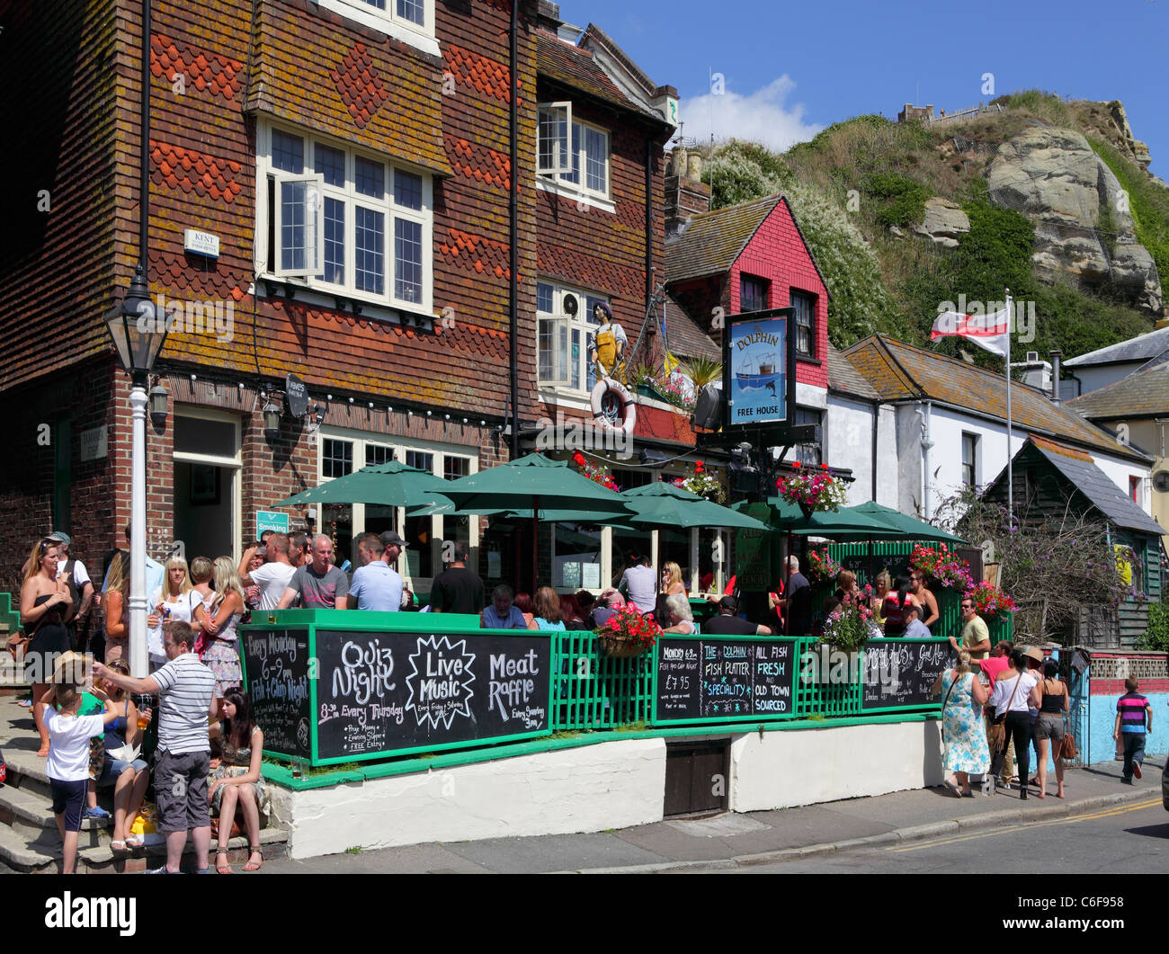 The Dolphin Pub, Hastings Old Town, East Sussex, England, UK, GB - Stock Image