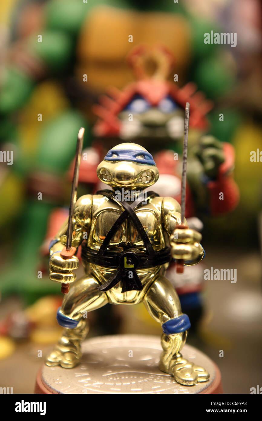 Teenage mutant ninja turtles toy figure at Toy World in Penang. Penang, Malaysia, Southeast Asia, Asia - Stock Image