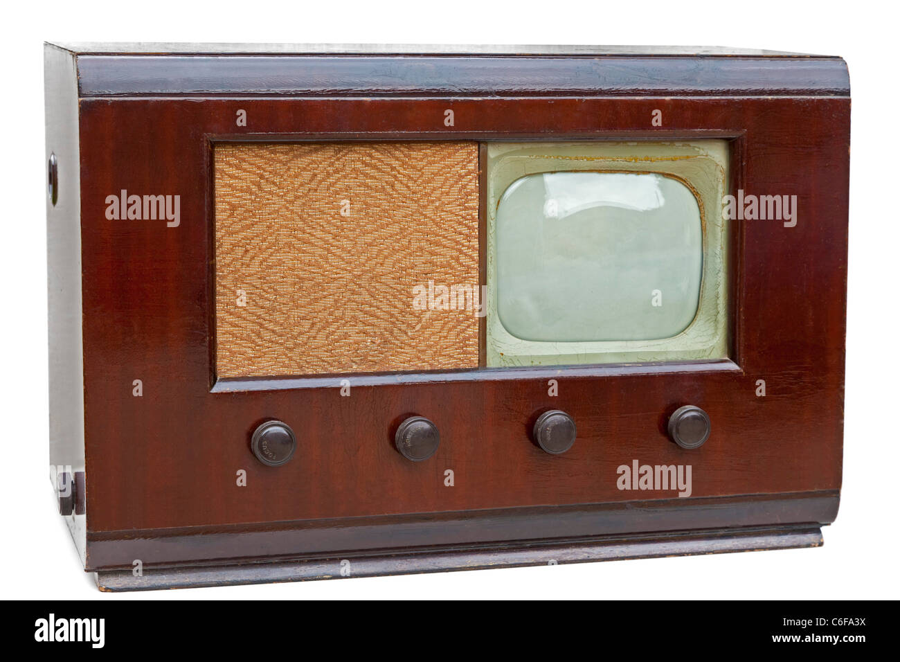 Vintage Philips model 383A television set from 1948 with 9 inch screen. JMH5164 - Stock Image