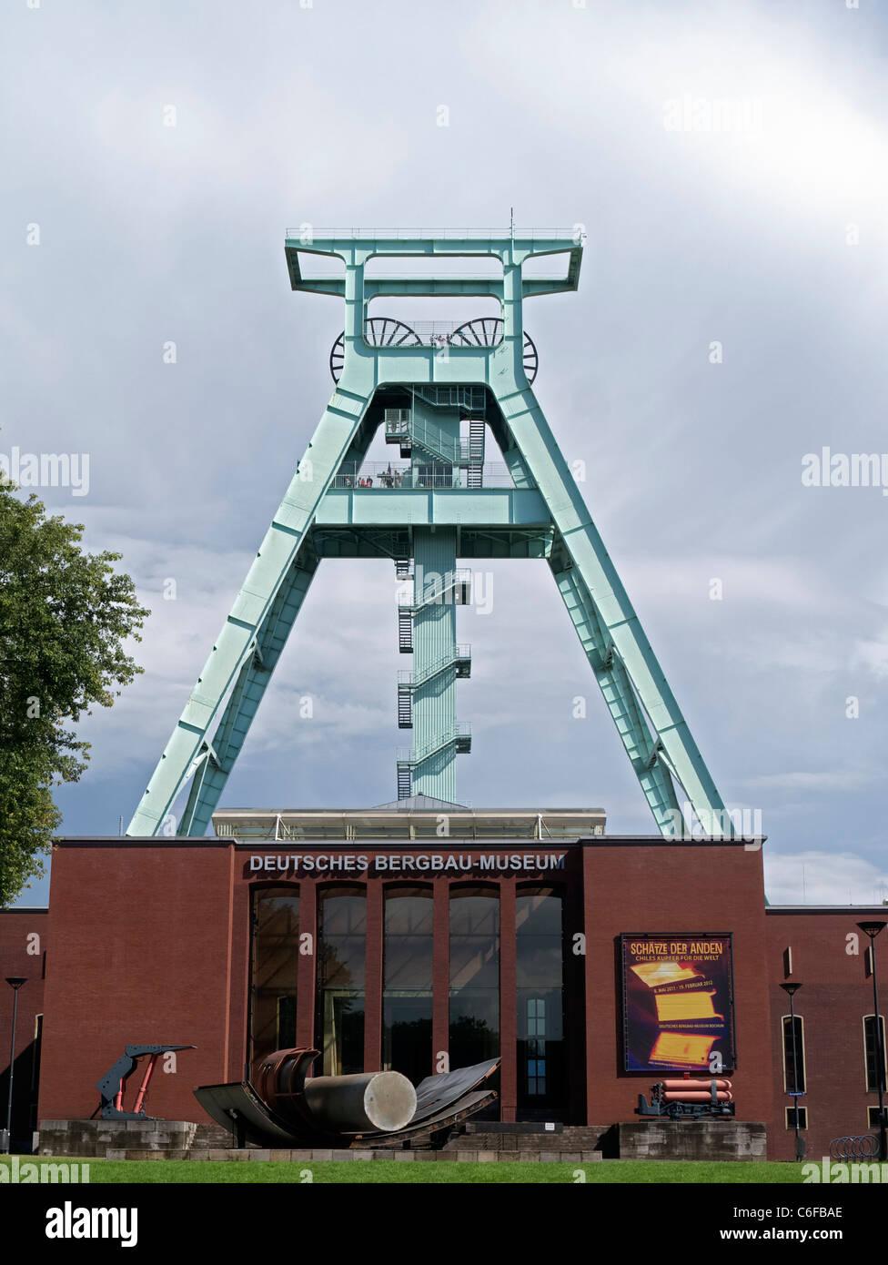 The Deutsches Bergbau-Museum or German Mining Museum in Bochum Germany - Stock Image