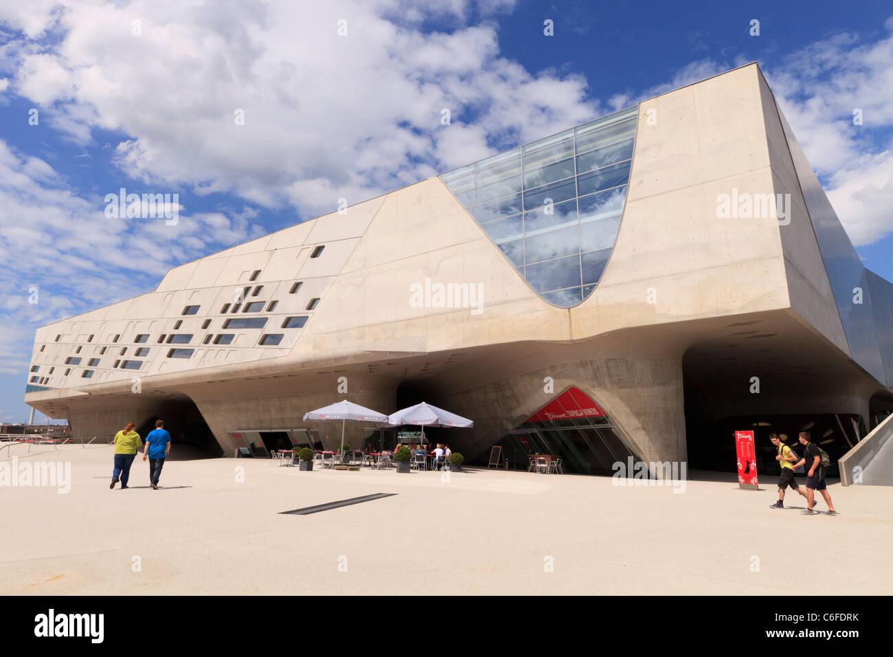 The Phaeno Science Center in Wolfsburg, Germany, designed by architect Zaha Hadid. Stock Photo