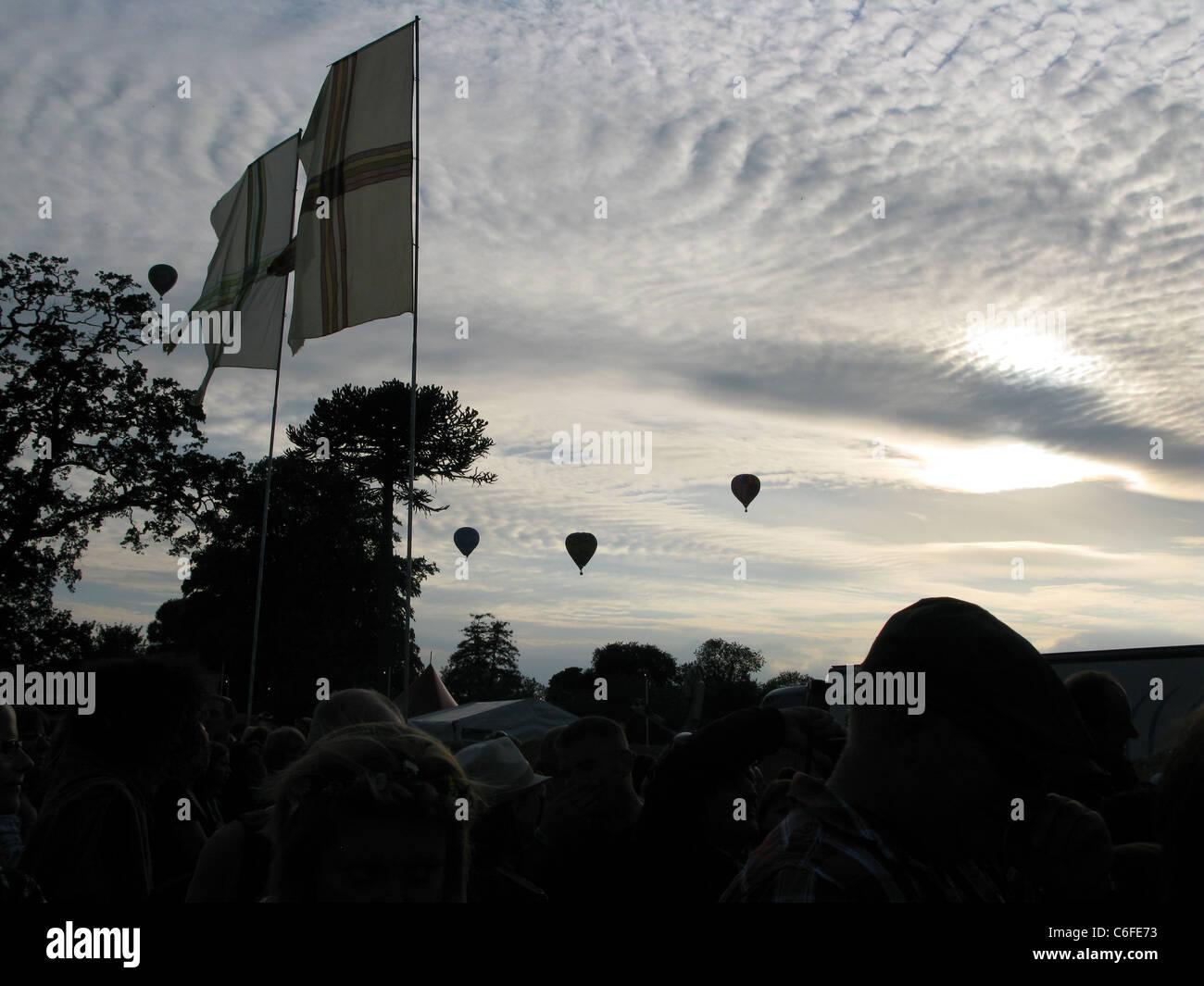 Cornbury Music Festival, Great Tew, Oxfordshire 2011 - Stock Image
