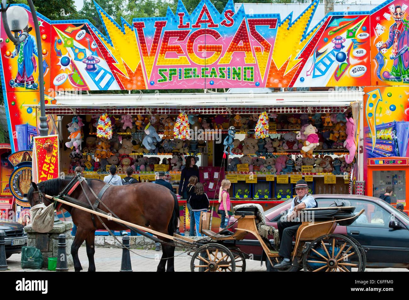 Emusement arcade, Zakopane, Podhale, Poland - Stock Image