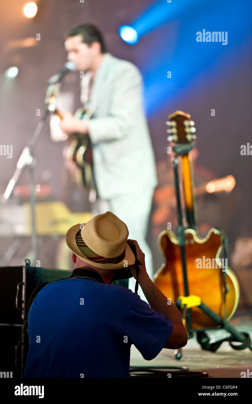 The Professional Music Photographer - Stock Image
