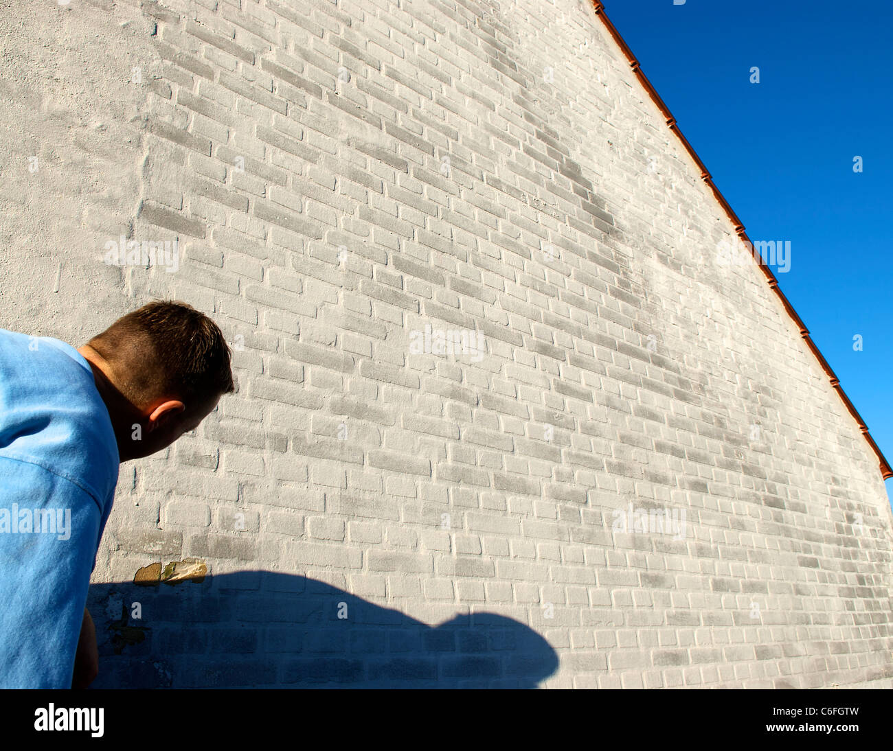 CONSTRUCTION WORKER - Stock Image