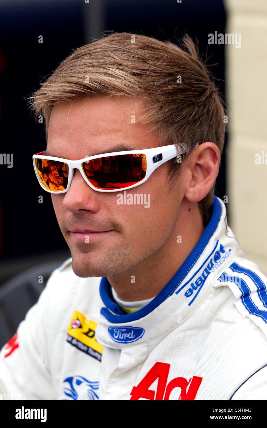 BTCC  British Touring Car Championship racing car driver Tom Chilton. - Stock Image