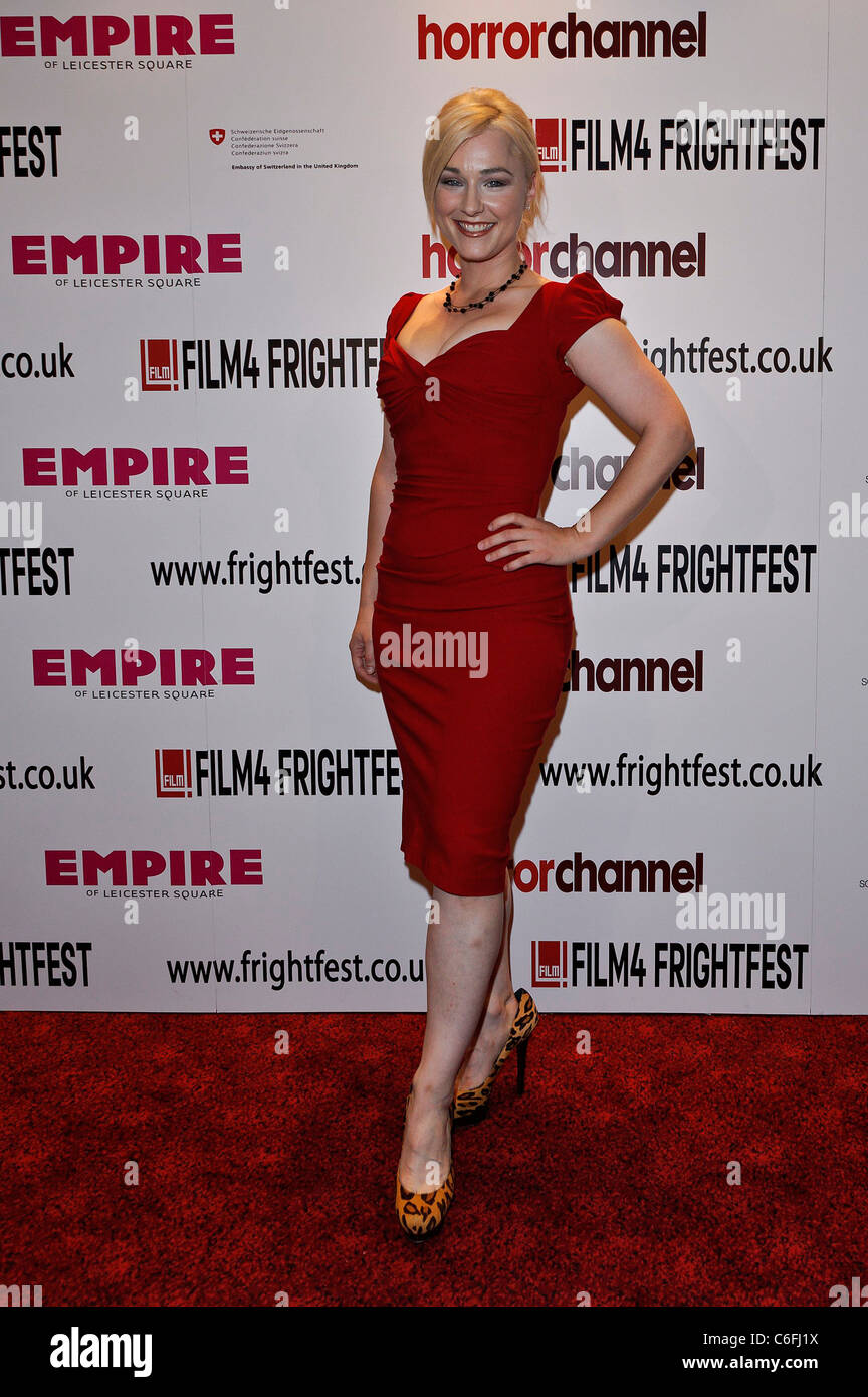 Natalie Victoria attends the UK Premiere of Deadheads at the Film 4 Frightfest,  The Empire Leicester Square, London - Stock Image