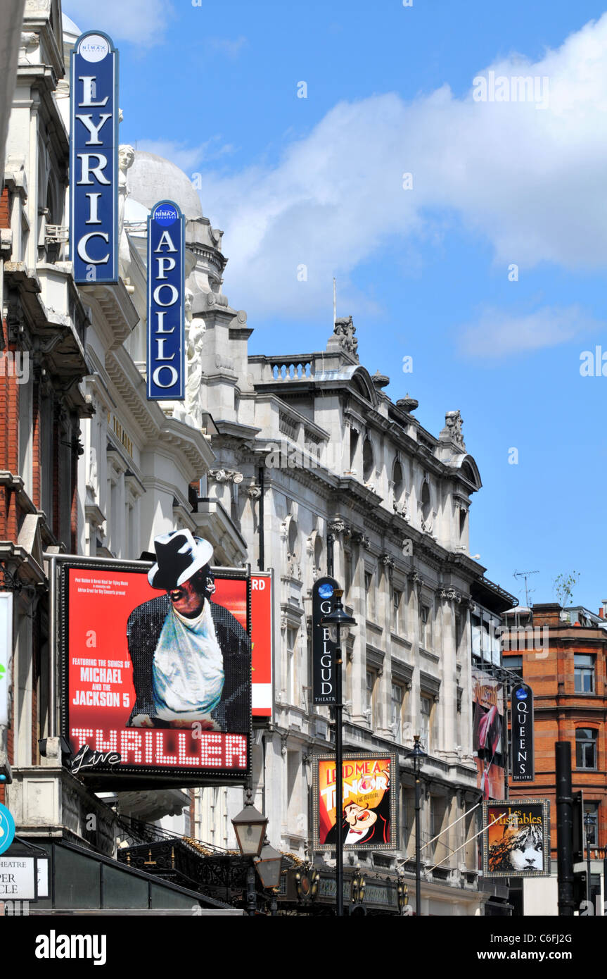 Lyric and Apollo Theatres, London, Britain, UK Stock Photo