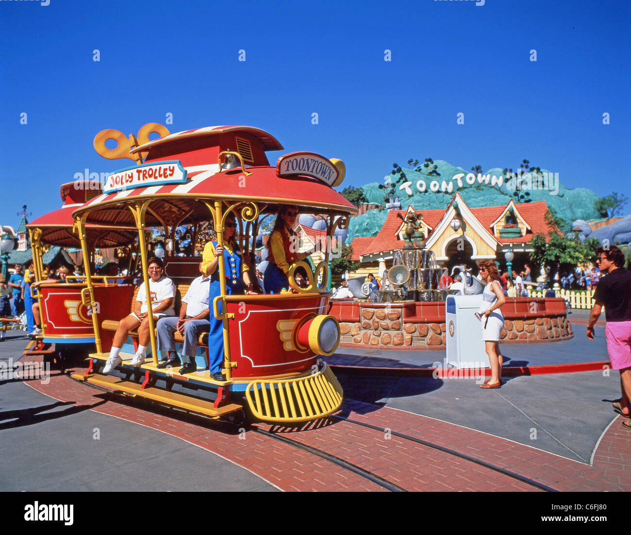Jolly Trolley, Mickey's Toontown, Disneyland, Anaheim, California, United States of America - Stock Image