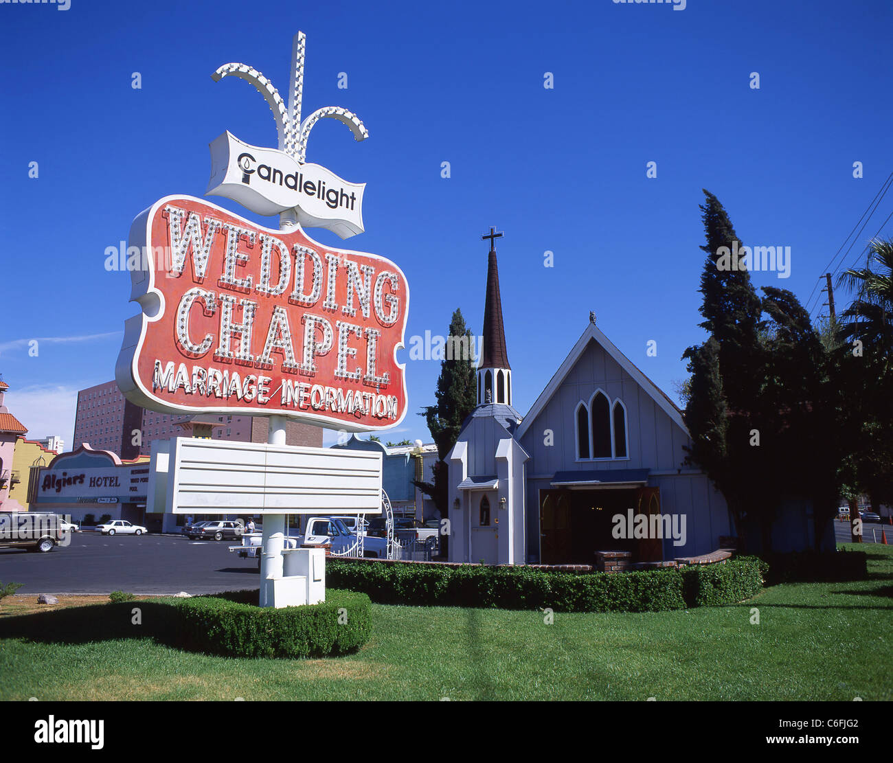 Candlelight Wedding Chapel, Las Vegas Boulevard, Las Vegas, Nevada, United States of America - Stock Image