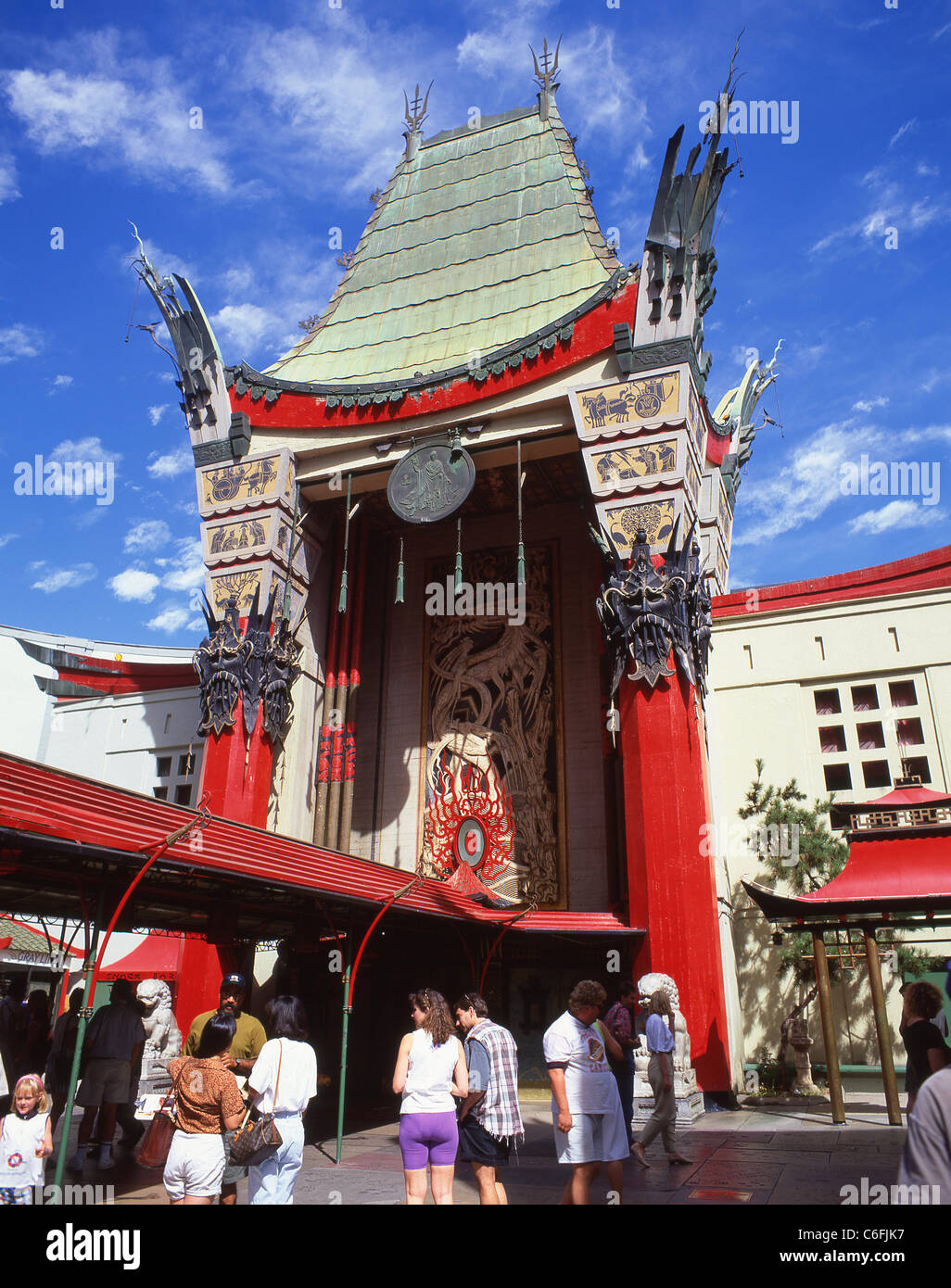 front entrance of tcl chinese theatre hollywood boulevard stock
