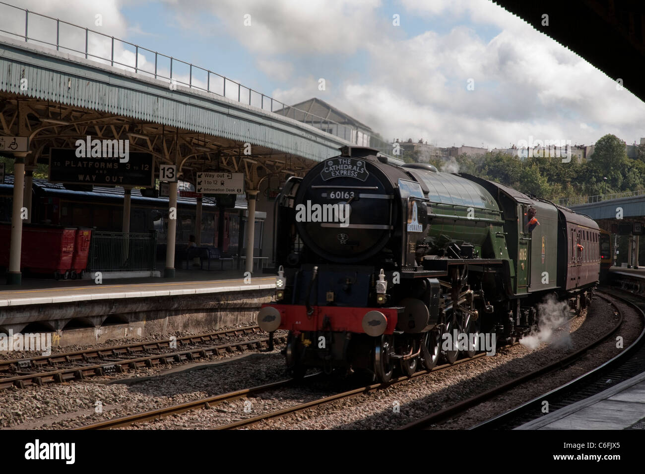 The Cathedrals Express passing through Bristol Temple Meads Station, Bristol, England, UK Stock Photo