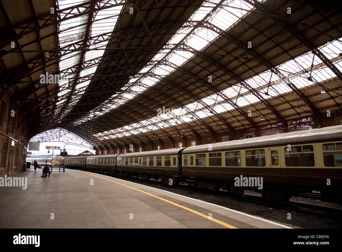 Interior of Bristol Temple Meads Station, Bristol, England, UK Stock Photo