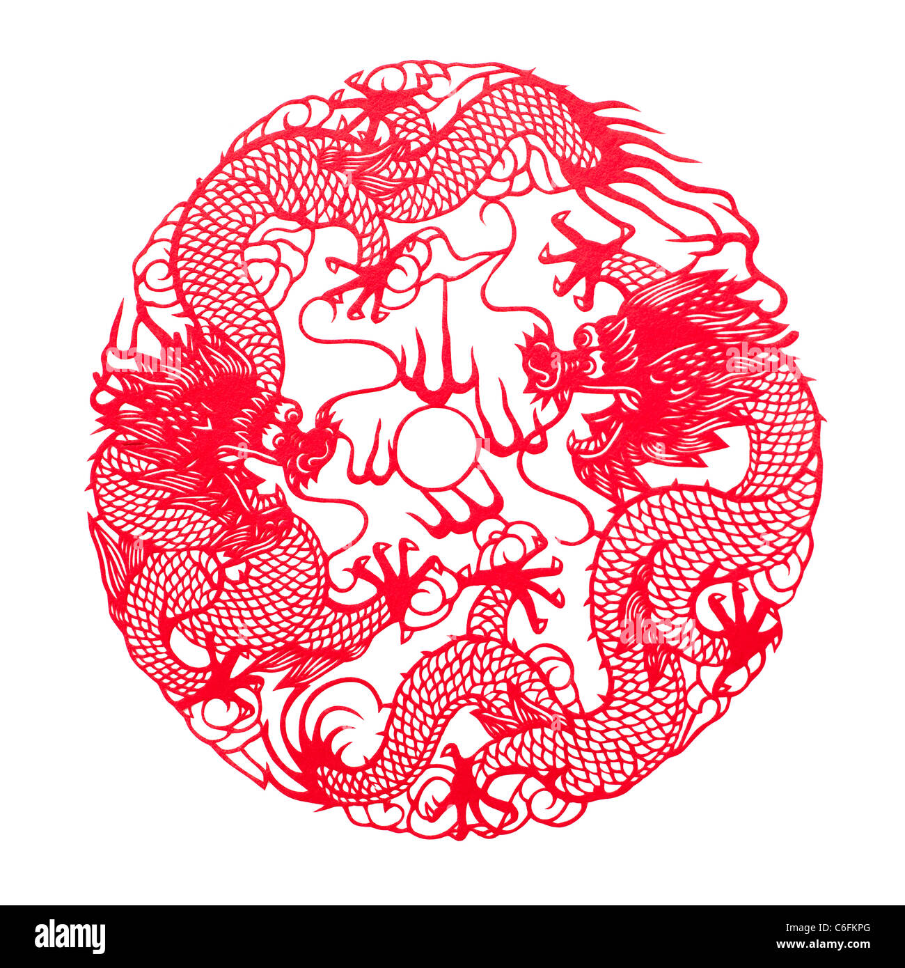 Chinese traditional paper-cut - Stock Image