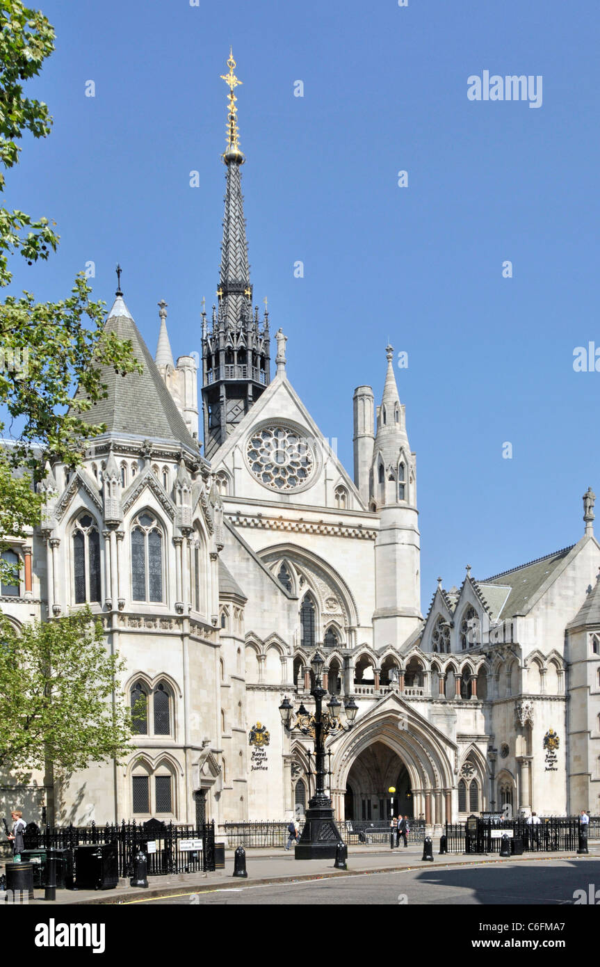 Royal Courts of Justice also known as Law Courts is courthouse building in City of London also the High Court and - Stock Image