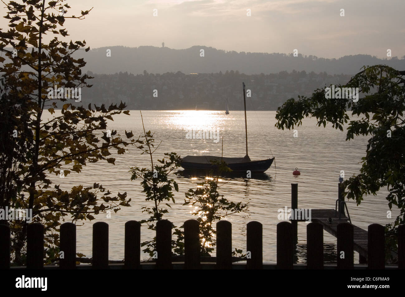 View of Zurich lake Stock Photo
