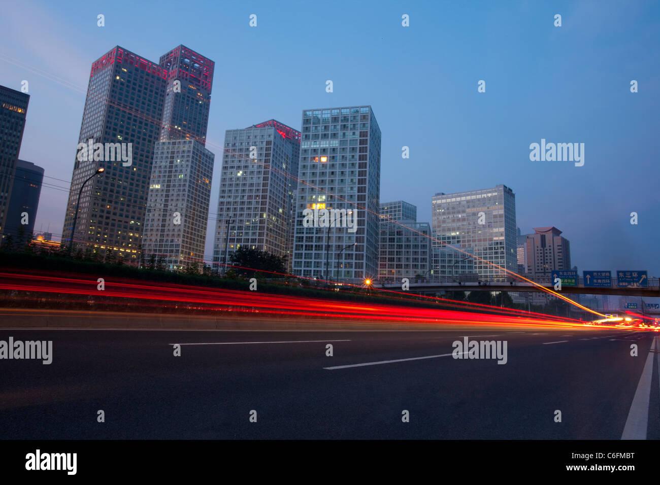 Highway in Beijing, China - Stock Image