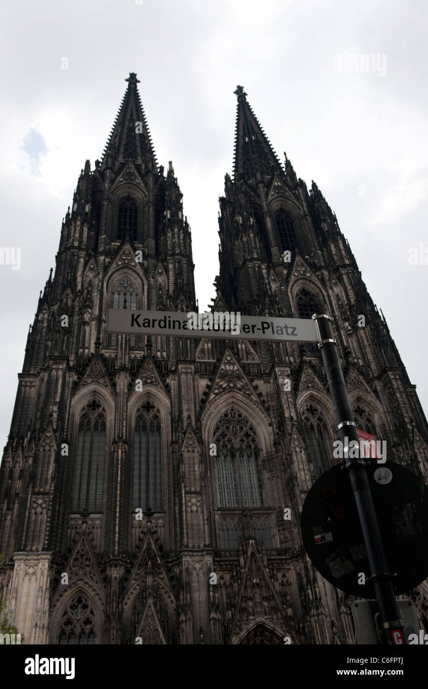 Kardinal Hoffner Platz Cologne Cathedral Koln Germany Europe Stock Photo