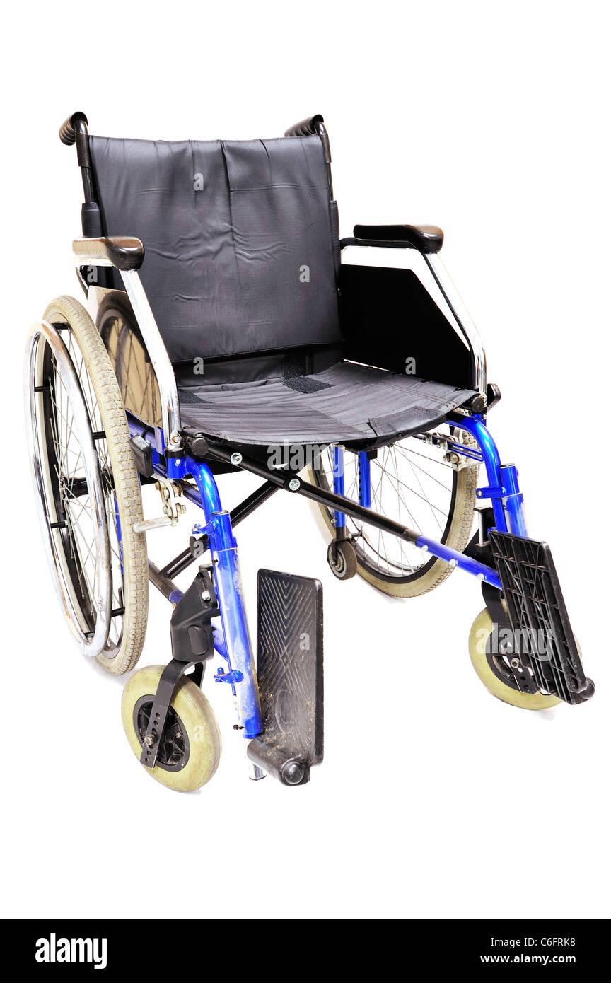 Wheel chair on white, medical equipment - Stock Image