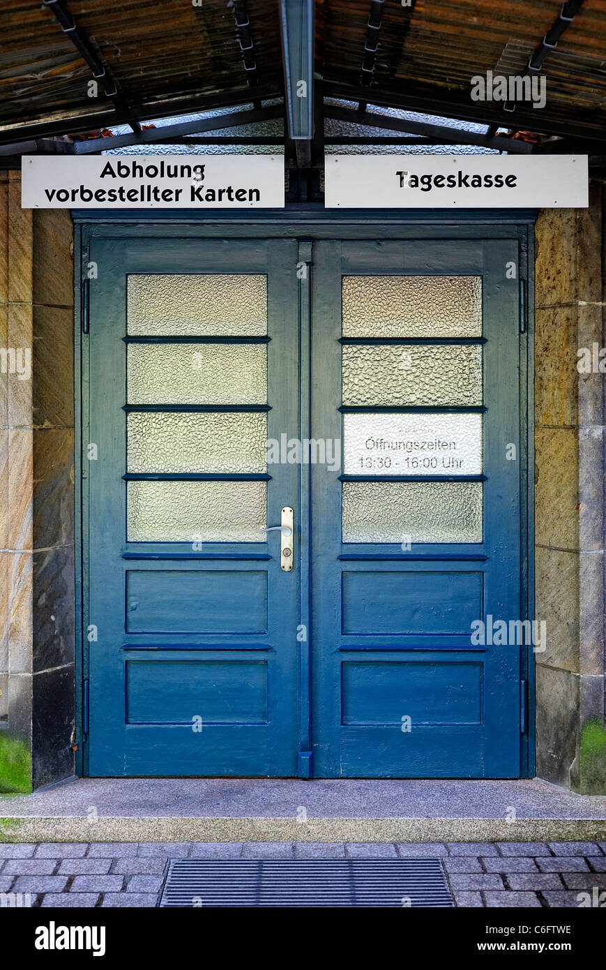 Ticket office for the Bayreuth Festival Theater or Festspielhaus, Bayreuth, Bavaria, Germany - Stock Image