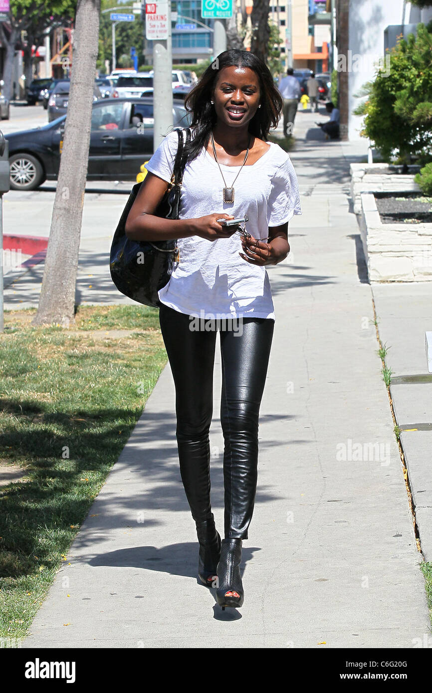 Wearing Leather Leggings Stock Photos & Wearing Leather ...