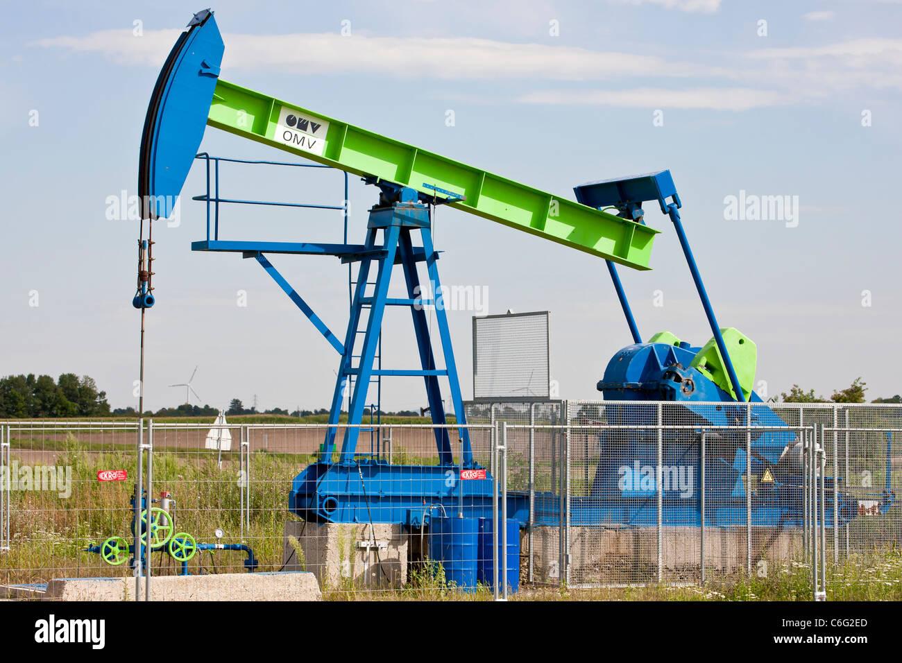 OMV crude oil pump. - Stock Image