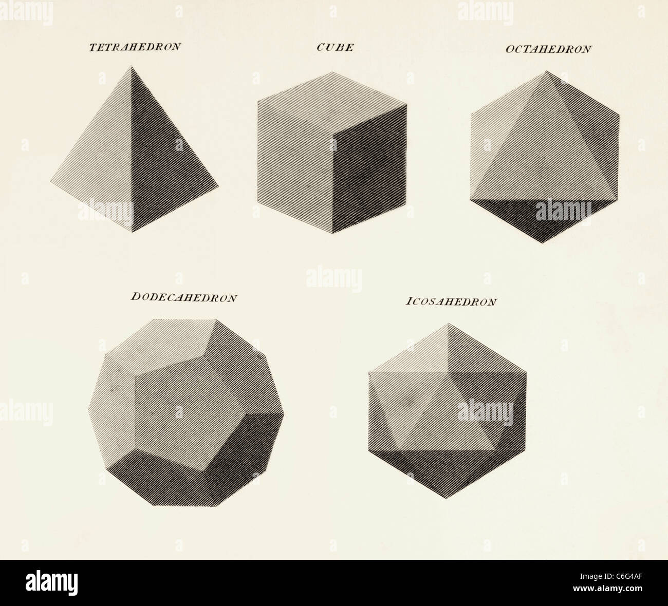 Three dimensional geometric shapes. - Stock Image