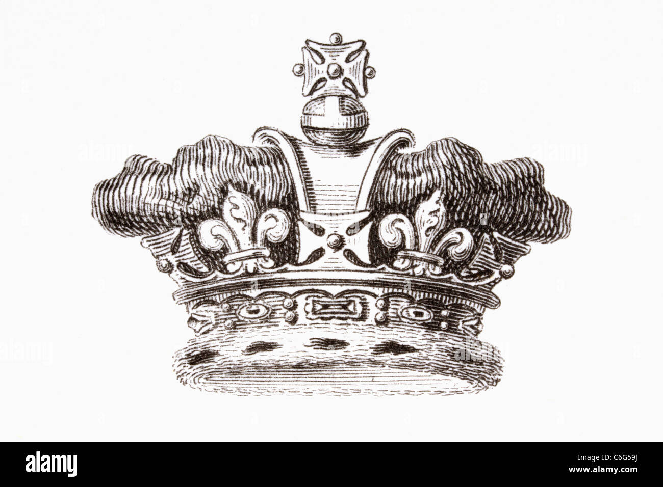 The crown of the Prince of Wales. - Stock Image