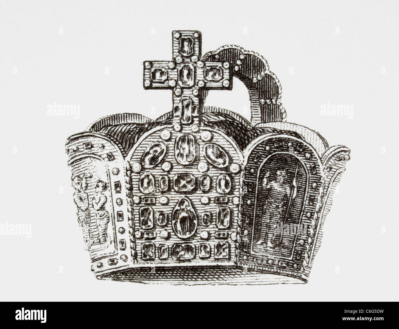 Crown of the Emperor Charlemagne. - Stock Image