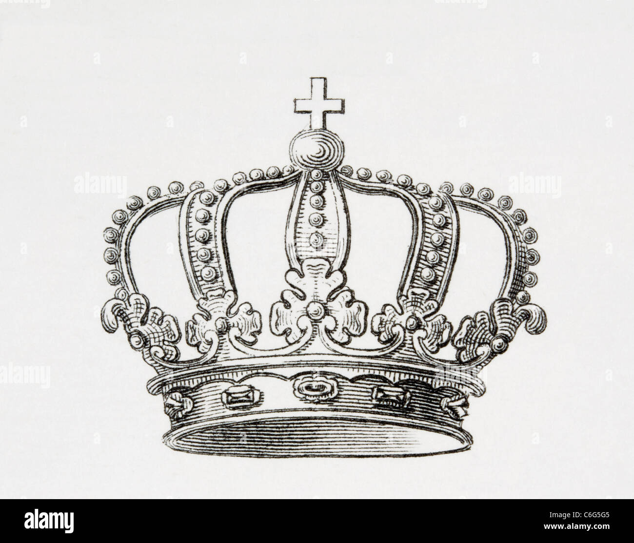 Crown of the Kingdom of Spain. - Stock Image