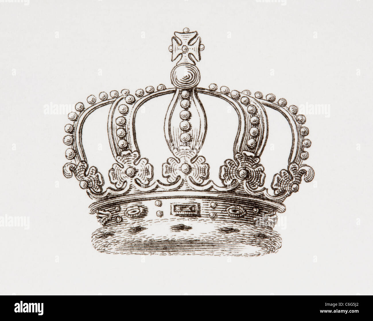 Crown of the Kingdom of Sweden. - Stock Image