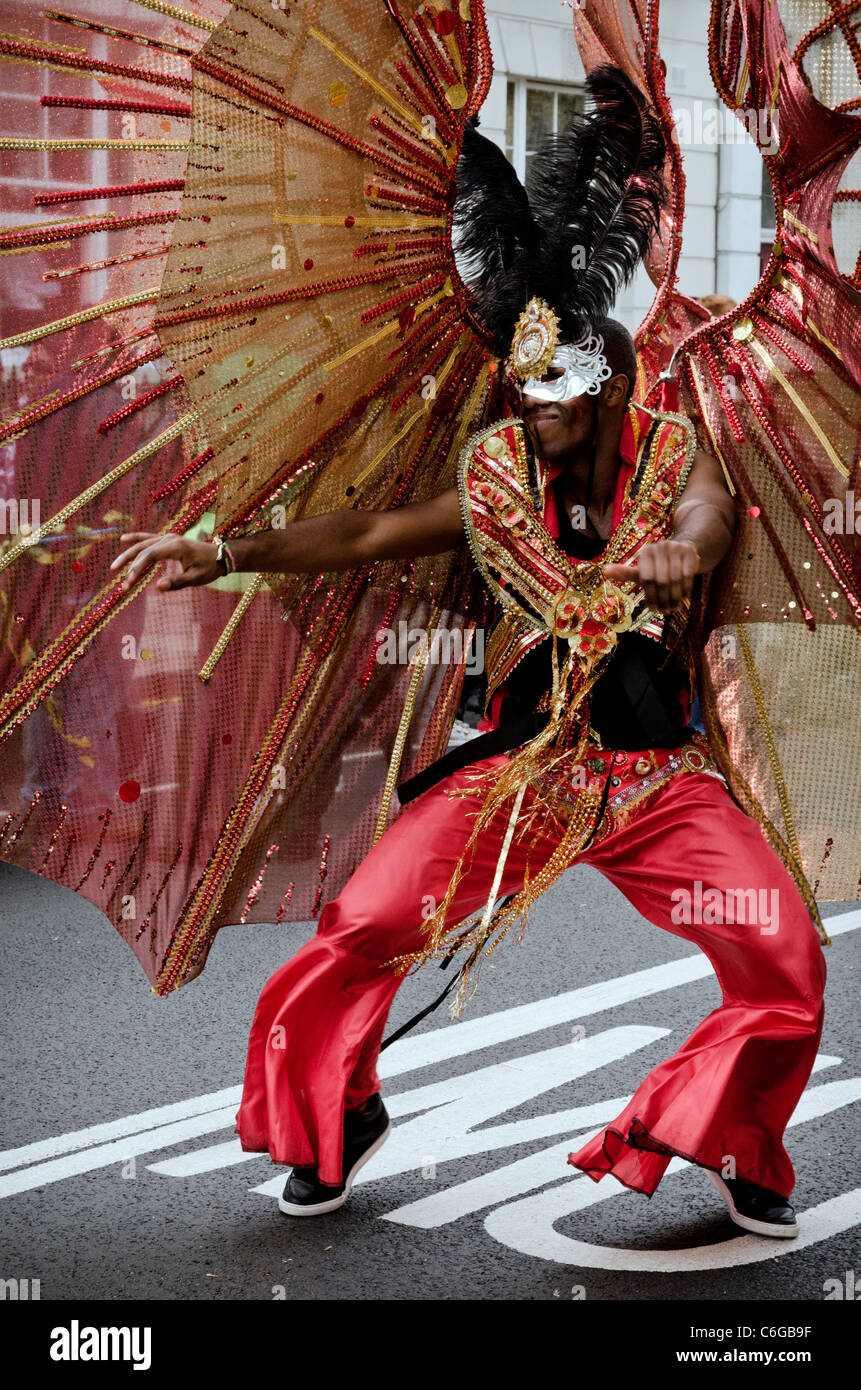 Dance performer at Notting Hill Carnival London 2011 England Great Britain UK - Stock Image