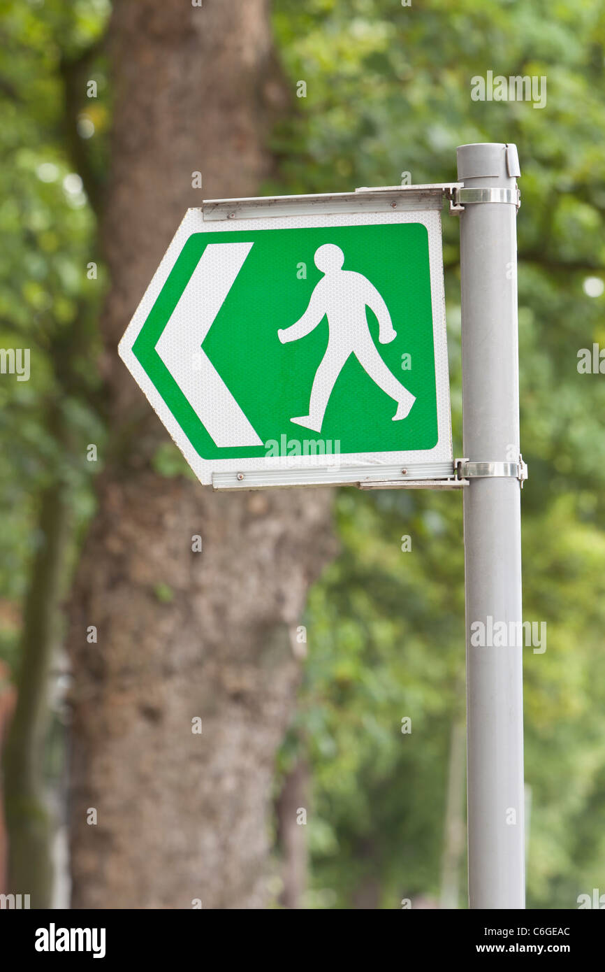 Public Footpath sign, uk - Stock Image