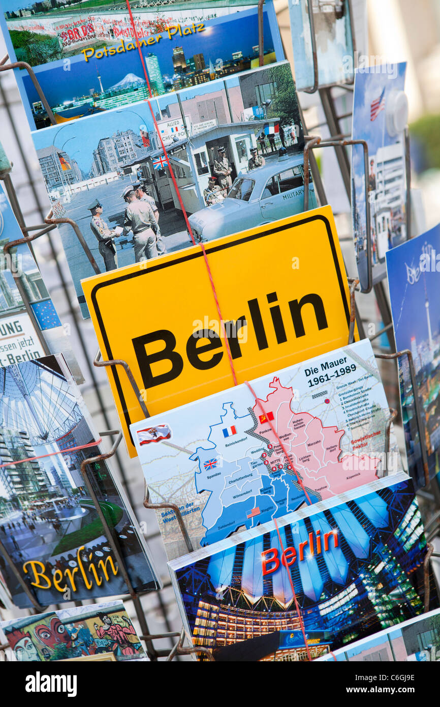 Postcards from Berlin - Stock Image