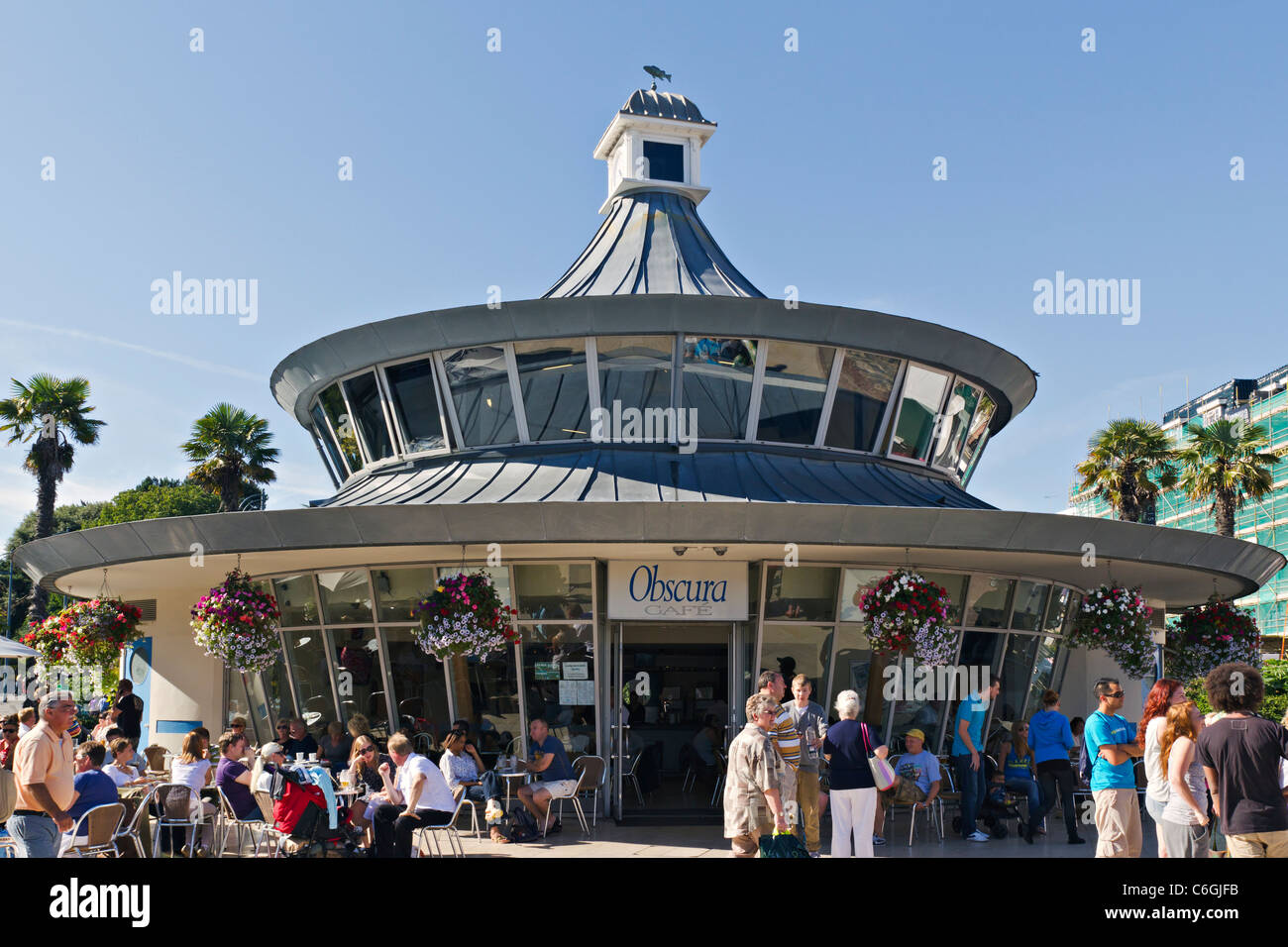 Cafe Obscura Round Building Bournemouth UK - Stock Image