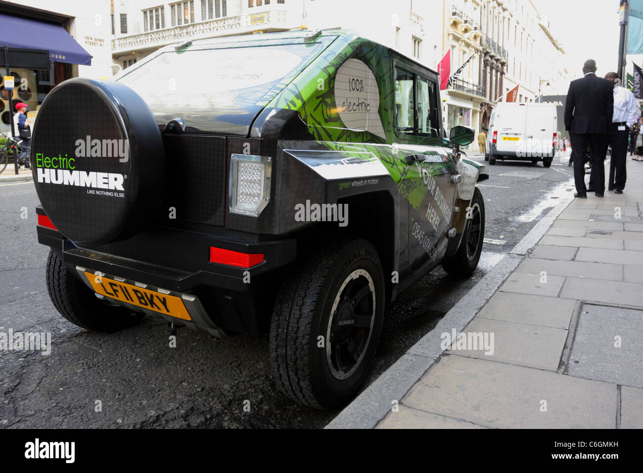 An Mev Hummer Hx Tm Electric Vehicle Parked In New Bond Street Stock