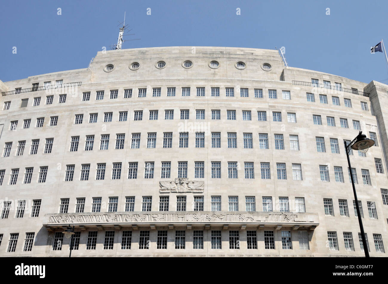 BBC Broadcasting House headquarters of the BBC in Portland Place London England UK - Stock Image