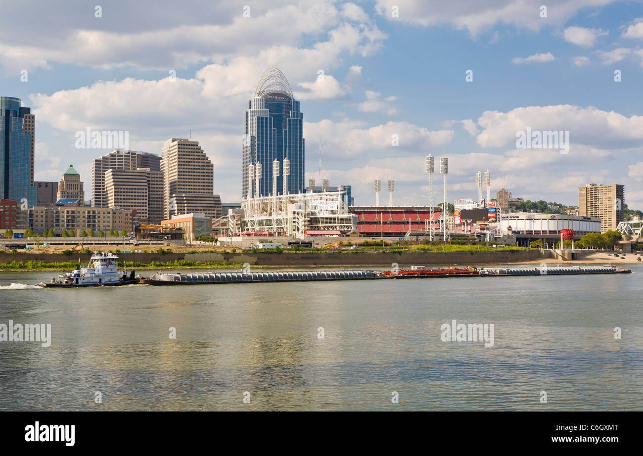 Cincinnati Ohio across the Ohio River Stock Photo